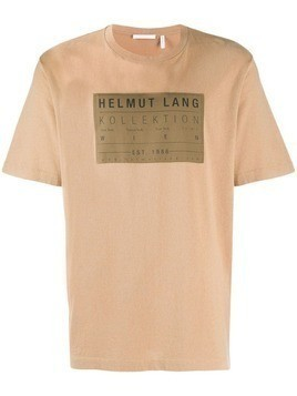 Helmut Lang logo patch T-shirt - Brown