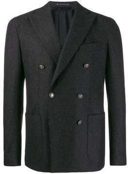 Bagnoli Sartoria Napoli double-breasted textured jacket - Grey