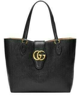 Gucci small Double G leather tote - Black
