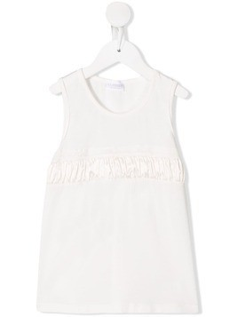 La Perla Kids gathered undershirt - White