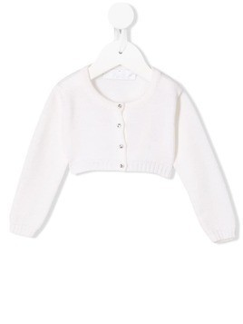 Colorichiari cropped crew-neck cardigan - White