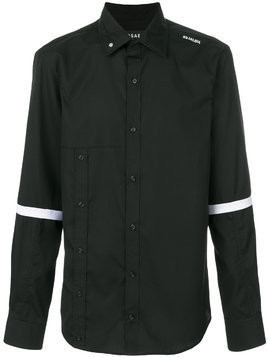 Icosae striped sleeve shirt - Black