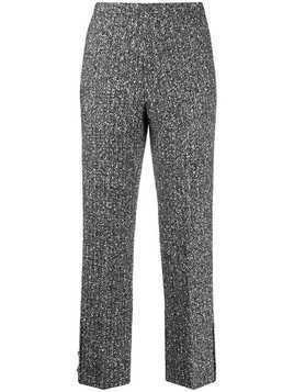 20:52 marl cigarette trousers - Black