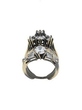 Iosselliani White Eclipse stacked ring - Gold