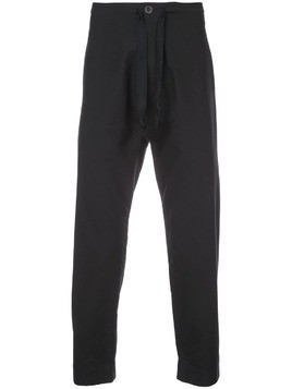 Jan Jan Van Essche cropped track trousers - Black