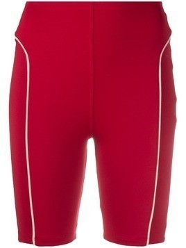 Esteban Cortazar high-waist biker shorts - Red