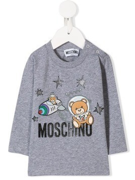 Moschino Kids Astronaut Teddy top - Grey