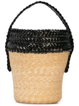 Gigi Burris Millinery woven basket bag - Neutrals