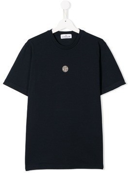 Stone Island Junior classic brand T-shirt - Blue