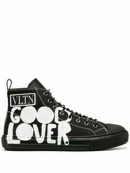 Valentino Good Lover high-top sneakers - Black