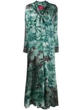 F.R.S For Restless Sleepers palm tree day dress - Green