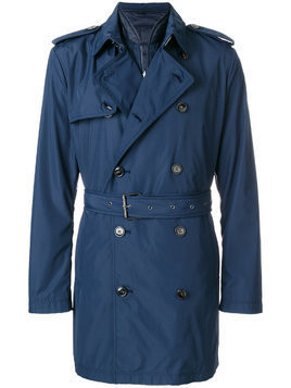 Michael Kors Collection belted trench coat - Blue