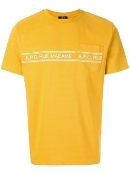 "A.P.C. ""rue madame"" print T-shirt - Yellow"