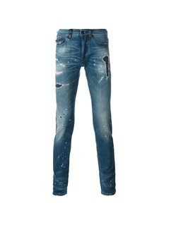 Marcelo Burlon County Of Milan distressed jeans - Blue