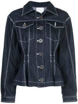 Acler fitted denim jacket - Blue