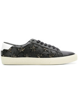 Saint Laurent glitter star sneakers - Black