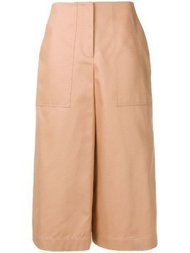 Jil Sander Navy wide leg cropped trousers - Neutrals