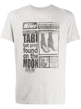 Maison Margiela journal print T-shirt - Grey