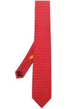 Salvatore Ferragamo all over logo tie - Red