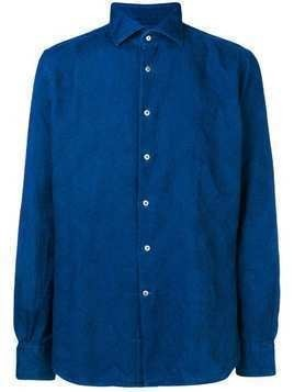 Glanshirt paisley embroidered shirt - Blue