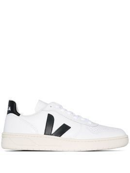 Veja V-10 leather low-top sneakers - White