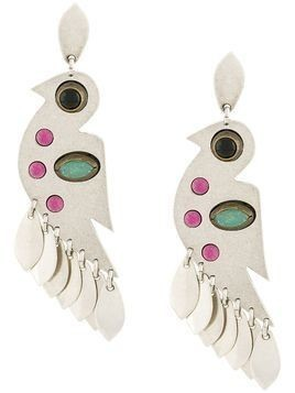 Isabel Marant Birdy pendant earrings - SILVER