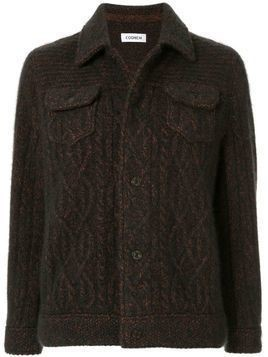 Coohem knitted cashmere blouson - Brown