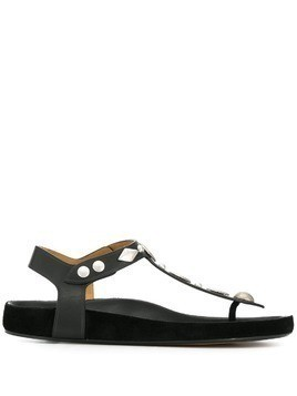 Isabel Marant embellished thong sandals - Black