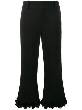 Creatures Of The Wind fringed flared trousers - Black