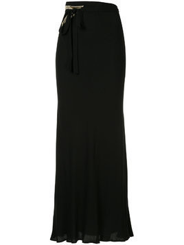 Haider Ackermann wrap-around long skirt - Black