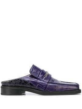 Martine Rose x Opening Ceremony square-toe loafer mules - PURPLE