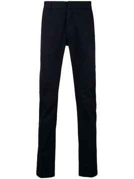 Closed straight-leg trousers - Blue