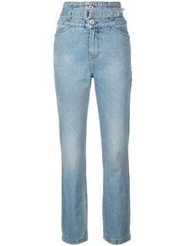Jonathan Simkhai belted high waisted jeans - Blue