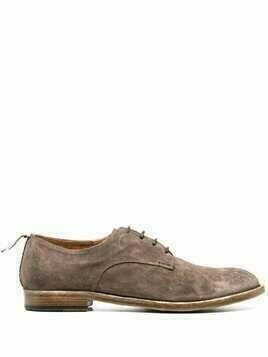 Silvano Sassetti leather lace-up derby shoes - Neutrals