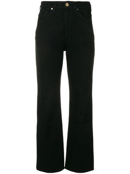 Goldsign mid rise straight trousers - Black