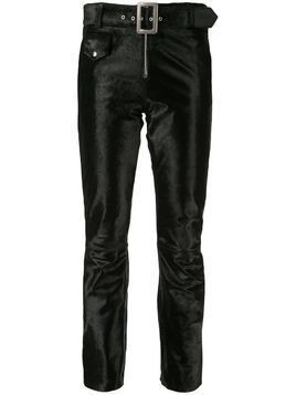 Yang Li velvet cropped trousers - Black