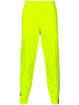 Adidas Originals By Alexander Wang - jacquard joggers - unisex - Polyester/Spandex/Elastane - XS - Yellow & Orange