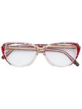 Yves Saint Laurent Pre-Owned patterned frame glasses - Red