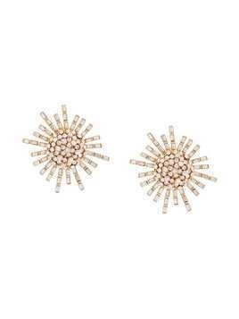 Oscar de la Renta flower earrings - Yellow & Orange