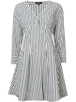 Theory striped shirt dress - White