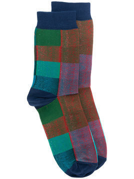 Golden Goose Deluxe Brand - color block socks - Herren - Cotton - M - Multicolour