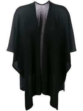Hemisphere open front shawl - Black