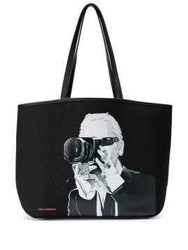 Karl Lagerfeld Karl Legend photographer tote bag - Black