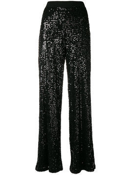 P.A.R.O.S.H. sequined flared trousers - Black