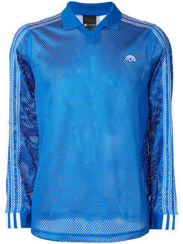 Adidas Originals By Alexander Wang - mesh polo shirt - Herren - Polyester - XS - Blue