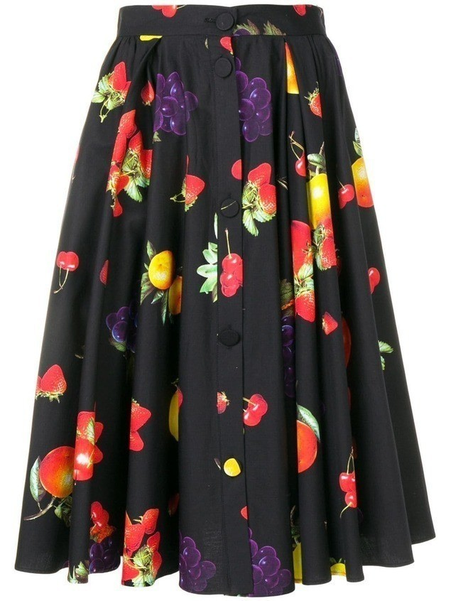 MSGM fruit print skirt - Blue