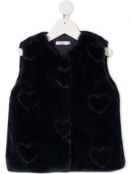 Billieblush heart pattern gilet - Blue