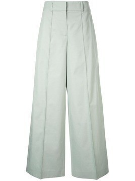 Jil Sander Navy flared tailored trousers - Green