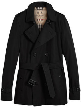 Burberry - The Kensington short trench coat - Herren - Cotton/Viscose - 52 - Black