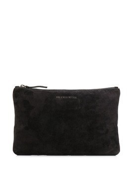 Ann Demeulemeester metallic logo mini bag - Black